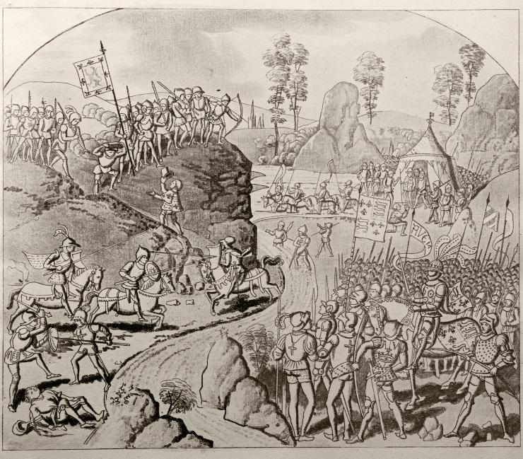 Bogenschiessen-Mittelalter
