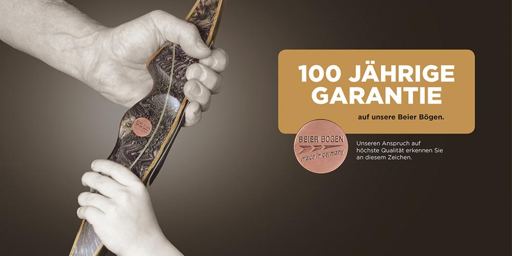 100 Jahre Garantie auf Beier Bögen