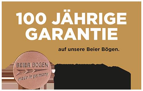 100 Jahre Garantie auf Bögen von Bogensport Beier