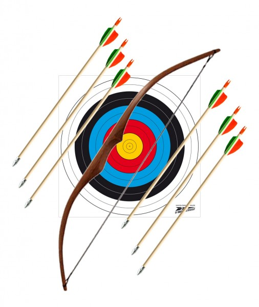Children's bow set superheroes 30 inch bright with 6 arrows