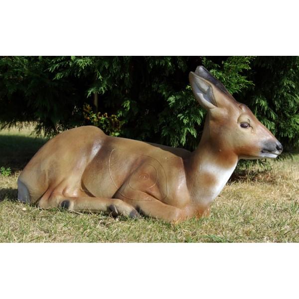 3D Tier Naturfoam liegendes Reh