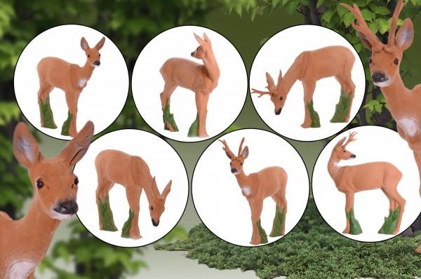 IBB 3D Tier Rehgruppe_3 Geißen _ 3 Böcke Premiumschaum