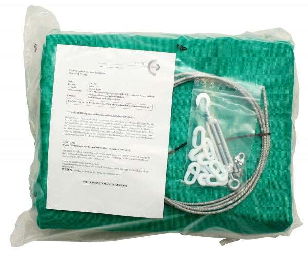 Pfeilfangnetz-Set: grün 3,5 Meter  extra stark und 2,85 Meter hoch