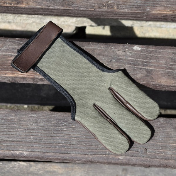 Shooting Glove Green Acer Cotton & Leather