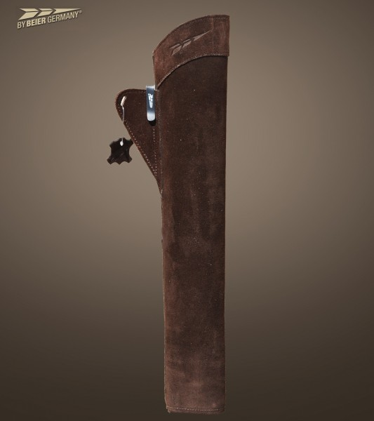 byBeier side quiver Suede in dark brown