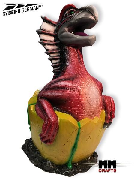 3D Tier Drachenküken Premiumschaum rot_1
